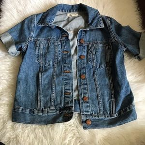 Madewell Summer Short Sleeve Denim Jacket